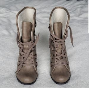 Call It Spring Lace Up High Heeled Ankle Boots